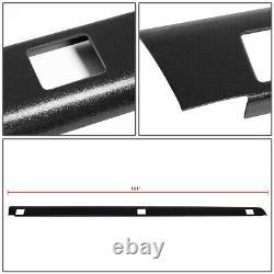 Fit 99-07 Silverado/Sierra 8Ft Bed Satin Black Truck Rail Caps Molding WithHoles