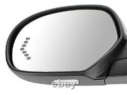 For 07-14 SILVERADO SIERRA Power Folding Mirror Memory Chrome Cap Driver LH Side