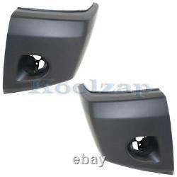 For 08-15 Titan Front Bumper Face Bar Extension End Cap Left Right Side PAIR SET
