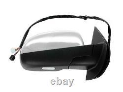 For 09-14 GM Pickup SUV Mirror Power Folding Arrow Signal Chrome Passenger Side