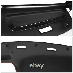 For 1994-1997 Ram Truck 1500 2500 3500 Red Abs Dashboard Bezel Cap Cover Overlay