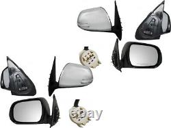 For 2012-2015 Tacoma Chrome Cap Power Non-Heat with Signal Light Mirror Pair Set