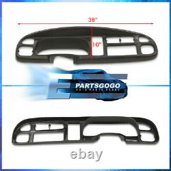 For 98-01 Ram 1500 / 98-02 2500 3500 Dash Board Cover Overlay + Instrument Bezel
