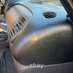 For 98-02 Dodge Ram Truck 1500 2500 3500 Dashboard Cap Bezel Cover Overlay Black