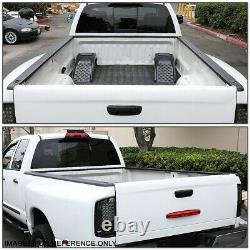 For 99-07 Silverado/Sierra 8Ft Bed Black Truck Rail Cap Molding Protector withHole
