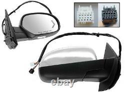 For GM Pickup 07-14 Mirror Power Folding Memory Signal Chrome Cap Passenger Side