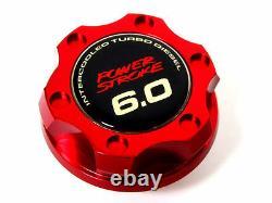 Ford F250 F350 Truck Power Stroke 6.0l Diesel Billet Engine Oil Filler Cap Red