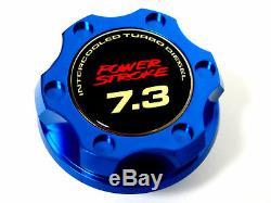 Ford F250 F350 Truck Power Stroke 7.3l Diesel Billet Engine Oil Filler Cap Bl