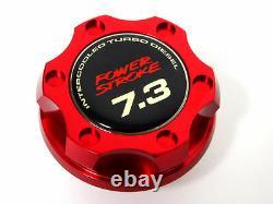 Ford F250 F350 Truck Power Stroke 7.3l Diesel Billet Engine Oil Filler Cap Red
