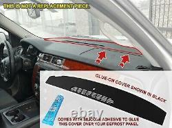 Front Defrost Molded Dash Cover Skin Cap Overlay Titanium Grey 2007-2014 Tahoe