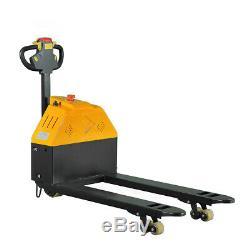 Full Electric Pallet Jack Truck 3300 Lb. Cap. 27 x 45 Forks 24 V