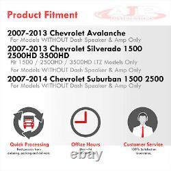 Gray Dashboard Cover Overlay Cap For 2007-2013 Chevy Silverado LTZ / Sierra SLT