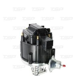 HEI DISTRIBUTOR 235 6 cylinder straight Engine Chevy Black Cap