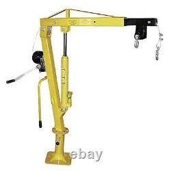 Hand Crank Steel Crane 1,000 lbs Cap Truck or Trailer Bed Mounted 360 Deg