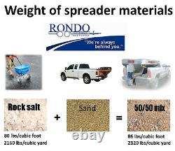 Hiniker 775 Stainless Salt Spreader Sander 2yd cap FITS Short & Long bed trucks