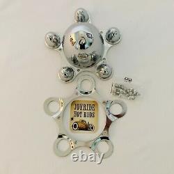Hot Rod Chrome Spider Caps- 5 x 4 1/2 Bolt Pattern- Set of 4