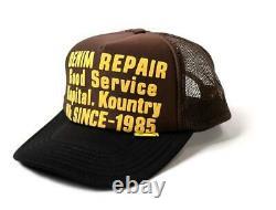 Kapital kountry DENIM REPAIR SERVICE PT 2TONE truck cap hat trucker brown black
