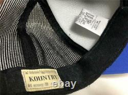 Kapital kountry WORKING PUKING PT 2TONE truck cap hat trucker black blue