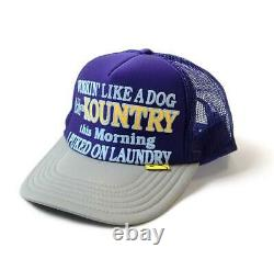 Kapital kountry WORKING PUKING PT 2TONE truck cap hat trucker purple gray