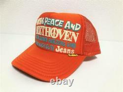 Kapital kountry love&peace beethoven truck cap hat trucker brand new orange