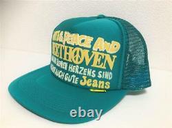 Kapital kountry love&peace beethoven truck cap hat trucker brand new turquoise