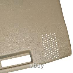 LIGHT BROWN ABS Dashboard Cover For GMC Chevrolet Trucks Dash Cap Overlay