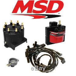MSD Streetfire Tuneup Kit 1987-95 Chevy/GMC Truck 5.0/5.7 Cap/Rotor/Coil/Wires