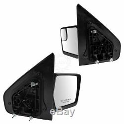 Mirror Power Amber Reflector Black Textured Cap Pair Set for 04-13 F150