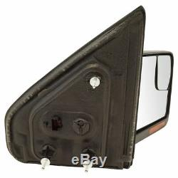 Mirrors Power Heated Signal Memory Chrome & Black Caps Pair Set for Ford F150