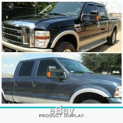 Mirrors Towing Power Heat Turn Signal Black Pair Fit for 07-14 Ford F250 F350