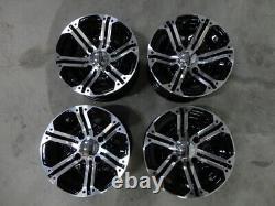 Mitsubishi Minicab Mini Truck Alloy wheels 12x7 4x100mm bolt pattern with caps