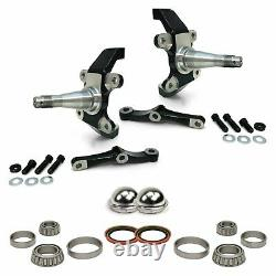 Mustang II Pro Touring 2 Drop Spindle Install Kit with Bearings Seals Dust Caps