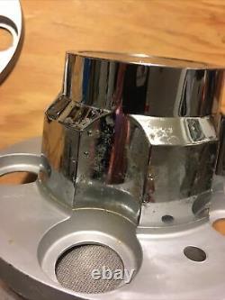 NOS 73-87 CHEVY 5 LUG TRUCK RALLY CENTER CAP SET 5 OEM Metal