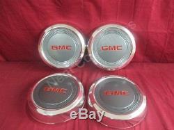 NOS OEM Set of 4 GMC S15 Jimmy Pick Up Truck Safari Dog Dish Hub Cap 1990 -1999