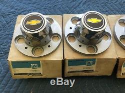 NOS OPEN BOX 71 73-80 81-87 Chevy Truck Rally Wheel 5 Lug Center Caps & Screws
