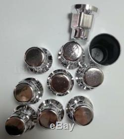 New 60x WHEEL NUT COVER CHROME PLASTIC CAPS BOLT 33mm TRUCK TRAILER LORRY BUS