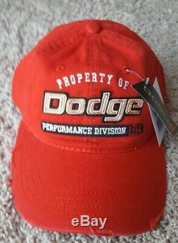 New Dodge Trucks Cars Logo Hat Cap Red Distressed Nwt Unstructured Ram Charger