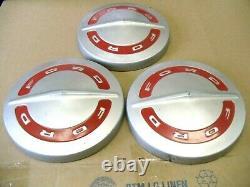 OEM 1960's Ford Truck F100 Hub caps set of 3 Original Dog Dish Hubcaps (NOS)