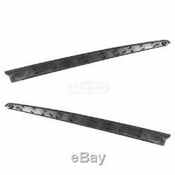 OEM Upper Bed Rail Protector Cap Black Kit Pair Set of 2 for Ram 6.5 Foot Bed