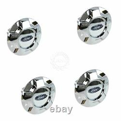 OEM Wheel Hub Center Cap Kit Set of 4 Chrome for Ford F150 17 5 Spoke Alloy Rim