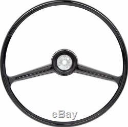 OER 2 Spoke Black Steering Wheel & Bow Tie Horn Cap 1960-1966 Chevy Truck