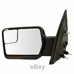 Power Heated Signal Memory Mirrors withChrome & Black Caps Pair Set for 04-13 F150