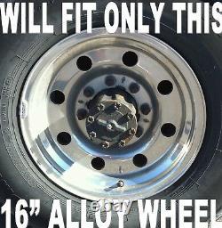 SETOF4 FORD TRUCK VAN 8LUG 16 Chrome Wheel Center Hub Caps Nut Covers Alloy Rim