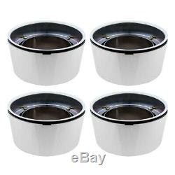 SET OF 4 For FORD TRUCK VAN 8LUG 16 Chrome Wheel Center Hub Caps Alloy Rim