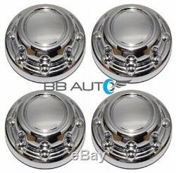 Set 4 New Chrome Wheel Hub Center Caps For 94-99 Dodge Ram 2500 3500 Truck Van