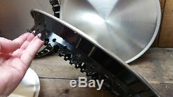 Set Of Four Salt Disc Hub Caps 16 Hot Rod Custom Vtg Style Rat Race Car Racing