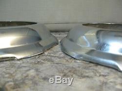 Set of 4 Vintage NOS Auto Chrome Beauty Rally Hub Cap Trim Rings Hot Rod Rat