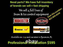 SnowEx HILEXX Poly Salt Spreader Sander 1.5yd cap FITS Short & LB trucks 11780