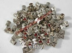 Stainless Steel Metal Truck Tire Valve Stem Cap 50 pack made in usa
