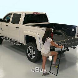 Tailgate Ladder Truck Bed Step Up Pickup Folding Mostly Universal 300lb Cap Gate